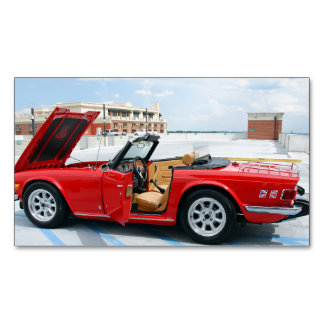 Restored British Sports Car Magnetic Business Card