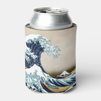 Restored Great Wave off Kanagawa by Hokusai Can Cooler