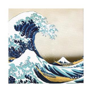 Restored Great Wave off Kanagawa by Hokusai Canvas Print