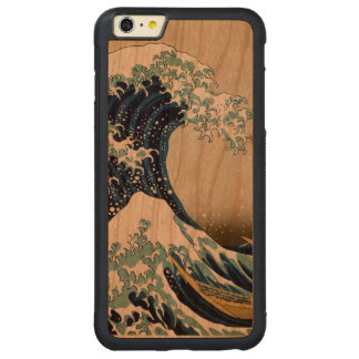 Restored Great Wave off Kanagawa by Hokusai Carved® Cherry iPhone 6 Plus Bumper Case