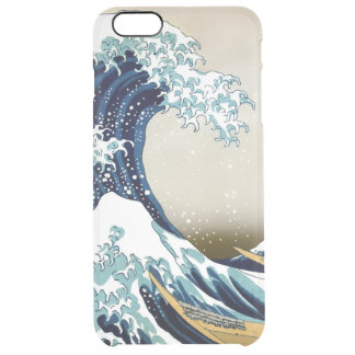 Restored Great Wave off Kanagawa by Hokusai Clear iPhone 6 Plus Case