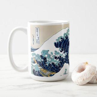 Restored Great Wave off Kanagawa by Hokusai Coffee Mug
