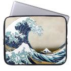 Restored Great Wave off Kanagawa by Hokusai Laptop Sleeve
