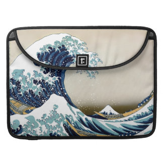 Restored Great Wave off Kanagawa by Sleeve For MacBook Pro