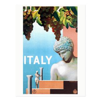 Restored Italy Vintage Travel Poster Postcard