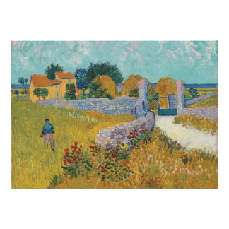 Restored Van Gogh Farmhouse in Provence France Poster