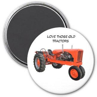 Restored Vintage Tractor Refrigerator Magnet