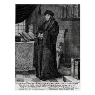 Restorer of the Latin language' Postcard