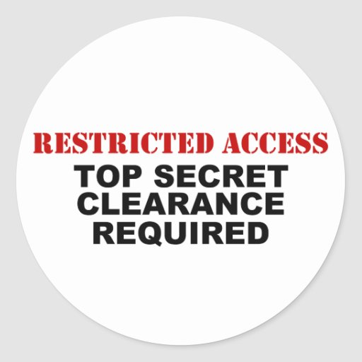Restricted Access Sticker