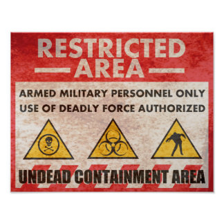 Restricted Area Warning Sign