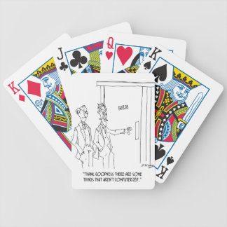 Restroom Cartoon 1306 Bicycle Playing Cards