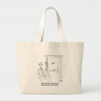Restroom Cartoon 1306 Large Tote Bag