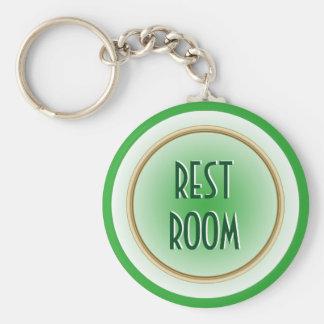 Restroom Green Key Ring