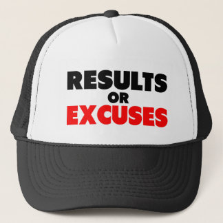 Results or Excuses | Fitness Quote Trucker Hat