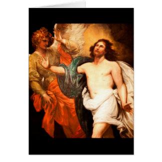 Resurrected Christ Gazing Upward Greeting Card