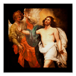 Resurrected Christ Gazing Upward Poster