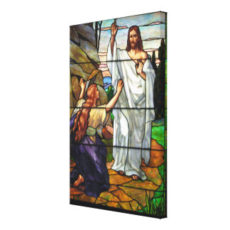 Resurrected Jesus Stained Glass Wrapped Canvas Art
