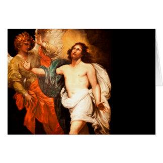 Resurrected Jesus with Angel Card