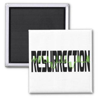 Resurrection 2 Noir Vert Fridge Magnet