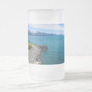 Resurrection Bay Frosted Glass Beer Mug