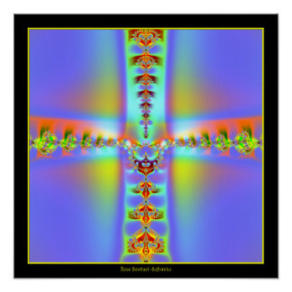 Resurrection Cross Fractal Poster