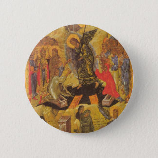Resurrection Icon 6 Cm Round Badge
