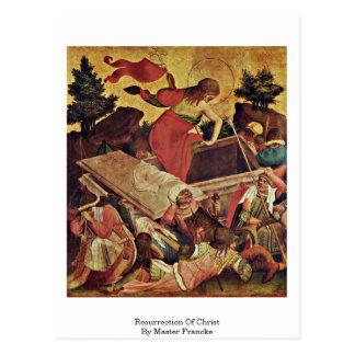 Resurrection Of Christ By Master Francke Post Card