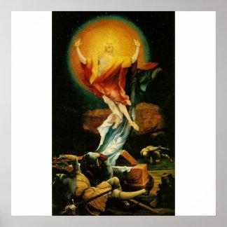 Resurrection of Christ - Poster - White background