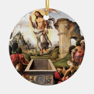 Resurrection of Christ Round Ceramic Decoration