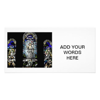 Resurrection of Jesus Stained Glass Window Personalized Photo Card