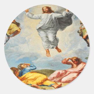 Resurrection scene in Vatican, Rome Classic Round Sticker