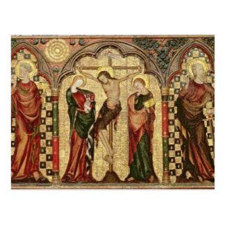 Retable depicting Crucifixion with Eight Postcard