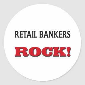 Retail Bankers Rock Classic Round Sticker
