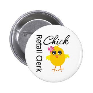 Retail Clerk Chick Pins