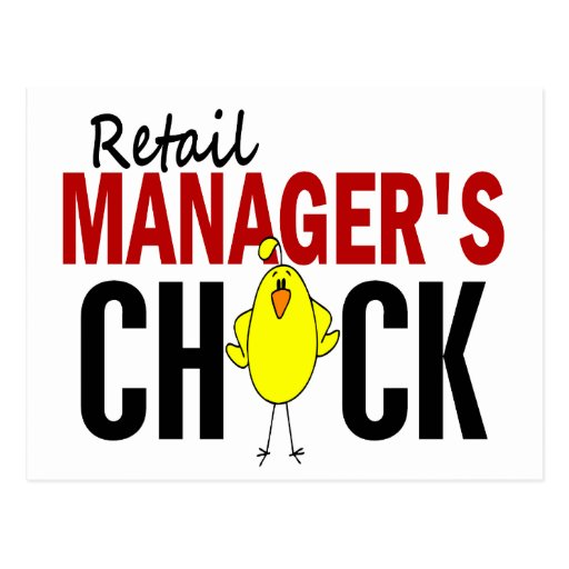 RETAIL MANAGER'S CHICK POSTCARDS