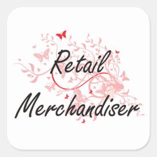 Retail Merchandiser Artistic Job Design with Butte Square Sticker