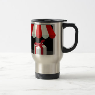 Retail Mobile Purchase Icon Stainless Steel Travel Mug