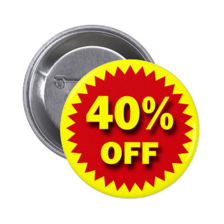 RETAIL SALE BADGE - 40% OFF