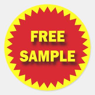 RETAIL SALE BADGE - FREE SAMPLE ROUND STICKER