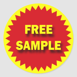 RETAIL SALE BADGE - FREE SAMPLE STICKERS