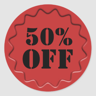 Retails Discount Sale Badge Round Sticker