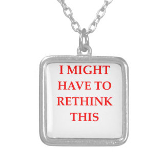 RETHINK SILVER PLATED NECKLACE