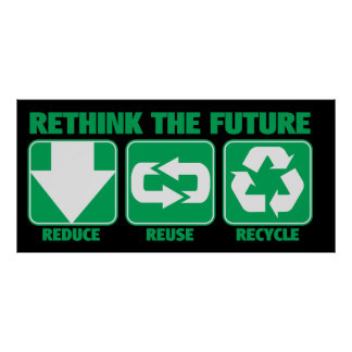 Rethink The Future, Recycle Poster