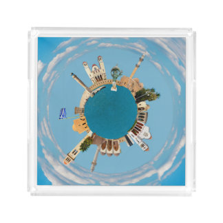 Rethymno city Greece little tiny planet landmark a Acrylic Tray