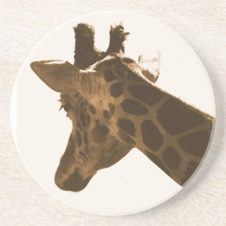 Reticulate Giraffe profile Coaster