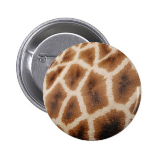Reticulated Giraffe Pattern Wild Animal Print Gift Buttons