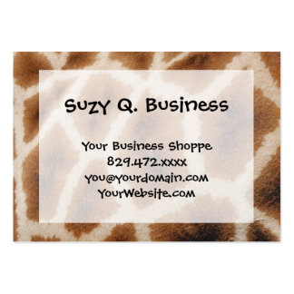 Reticulated Giraffe Pattern Wild Animal Print Gift Pack Of Chubby Business Cards