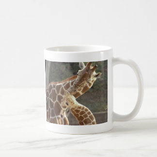 reticulated giraffes basic white mug