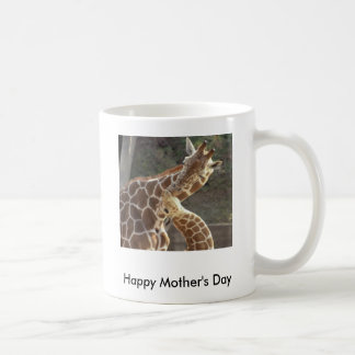 reticulated giraffes, Happy Mother's Day Basic White Mug