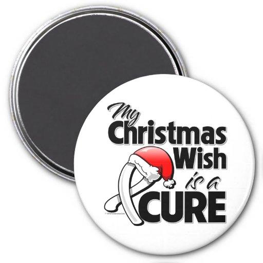 Retinoblastoma My Christmas Wish is a Cure Fridge Magnets